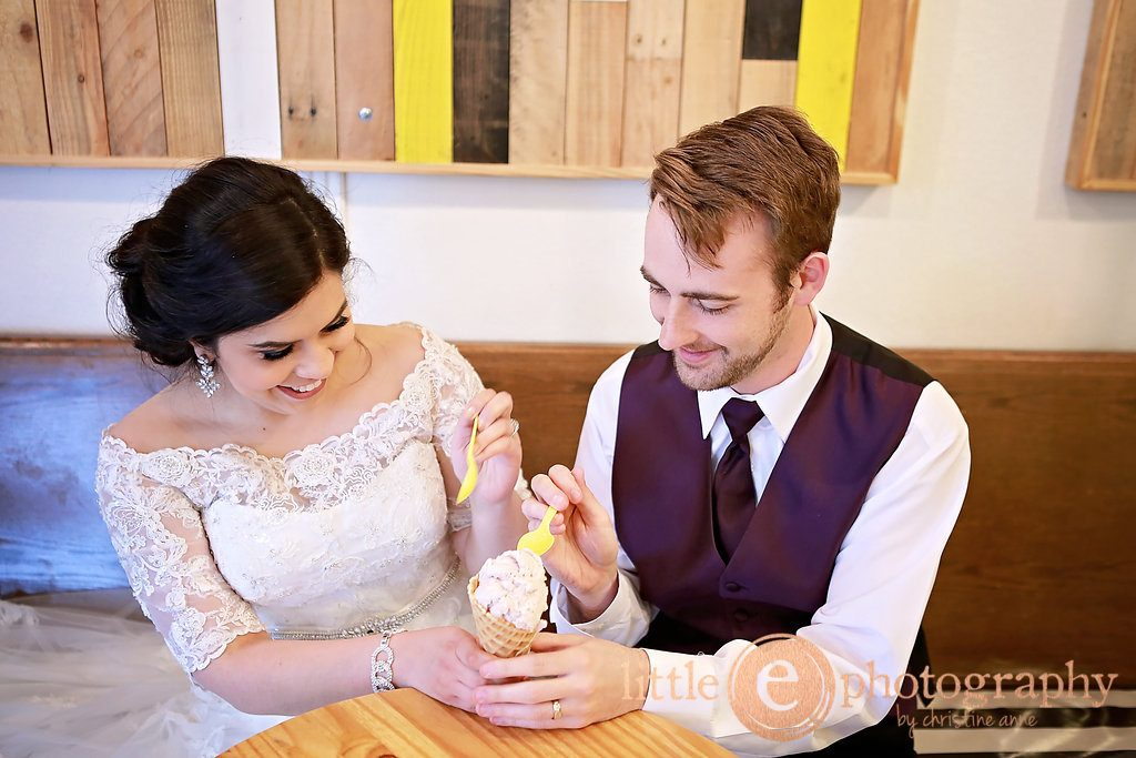 Cassandra and David Vaughan wedding, St. Ann's Catholic, Burleson, Texas, MELT Ice Cream, Marquis on Magnolia, Fort Worth